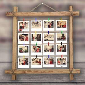 ahşap eskitme hasır ipli çerçeve, fotoboya.com
