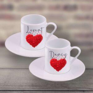 ikili kahve fincanı, isminizi özel, fotoboya.com