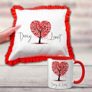 özel tasarım kalp yastık, fotoğrafından yastık, fotoboya.com