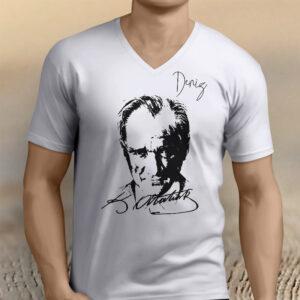 atatürk temalı isminize özel tasarım tişört, fotoboya.com
