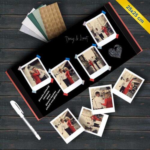 Anı Defteri, Beyaz Kalemli ve 40 Adet Pola Kart Fotoğraf Baskı Seti