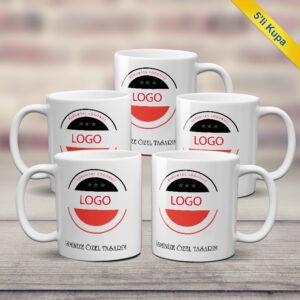 kurumsal logolu 5 li kupa bardak, fotoboya.com