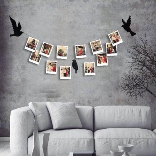 Teldeki Kuşlar ve 12 Fotoğraf Baskı