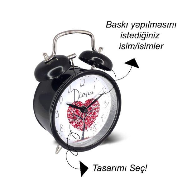 kişiye özel tasarım çalar saat, fotoboya.com