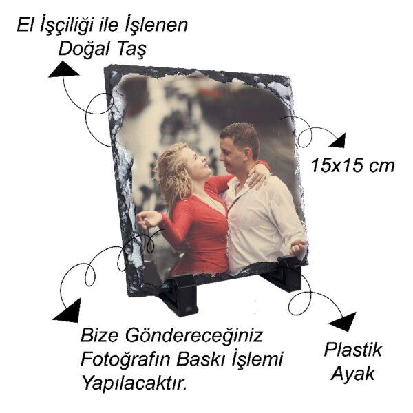 Fotoğrafından Doğal Taş 15x15 cm
