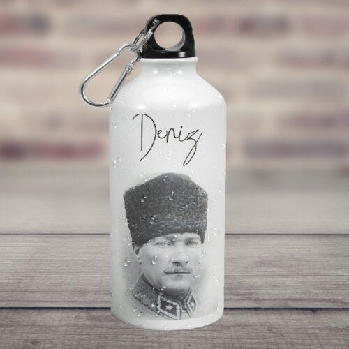 Atatürk Temalı İsminize Özel Su Matarası