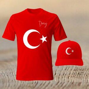 Atatürk Temalı, Türk Bayrağı Temalı, İsminize Özel Tişört, şapka, çanta, fotoboya.com