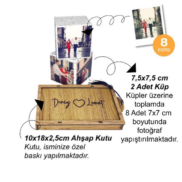 Ahşap kutulu Patlayan Küpler, fotoboya.com